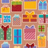 Seamless background gift theme 3