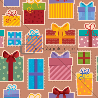 Seamless background gift theme 3