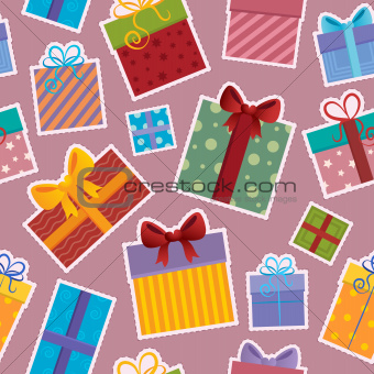 Seamless background gift theme 4