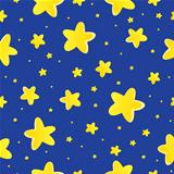 Seamless background with stars 1
