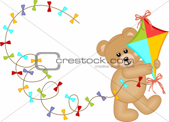 Teddy Bear with Kite Wind