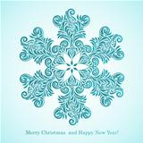 Vector Christmas Greeting Card with Snowflake