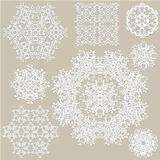 Vector Highly Detailed Paper Cut Snowflakes