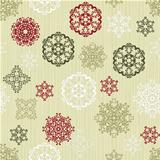 Vector Seamless pattern with  Paper Cut Snowflakes