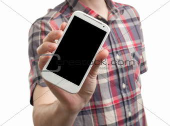Mobile phone in a hand