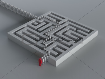 Maze with leadership