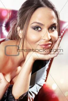 beautiful woman face ll