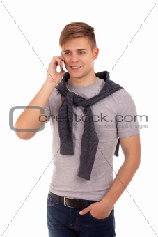 Portrait of student with cell phone