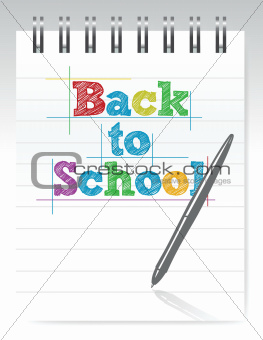 back to school and notepad