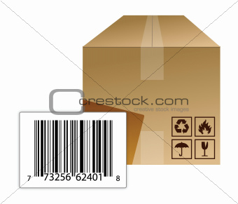 box with a barcode