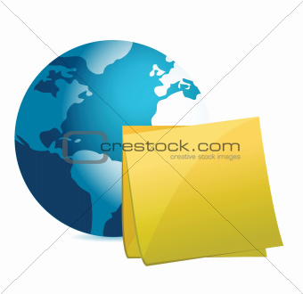 globe and post it