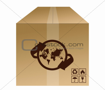 world box shipment concept