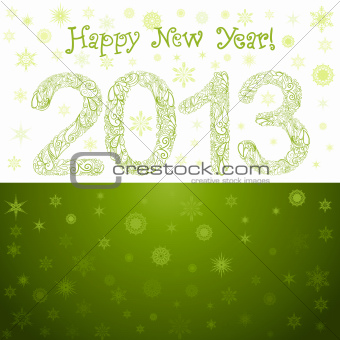Green New Year 2013 Card