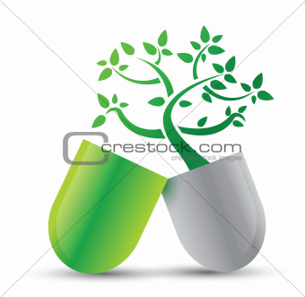 pill with nature ingredients