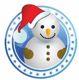 snowman christmas stamp