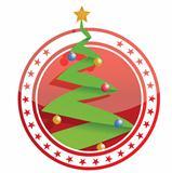 tree christmas stamp