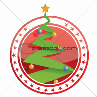 tree christmas stamp