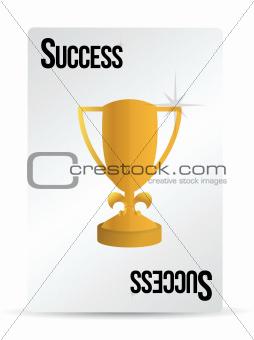 success playing card