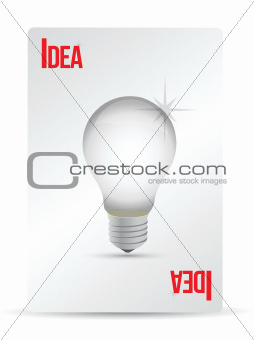 idea lightbulb playing card