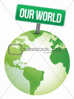 our world globe