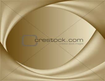 abstract gold background. wavy folds of silk.