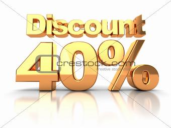 Discount 40 percent