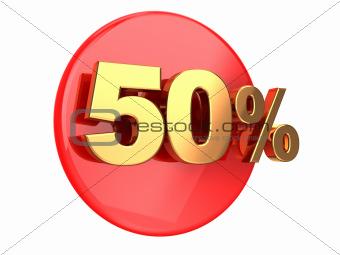 Discount 50 percent