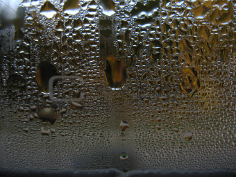 window glass and drops