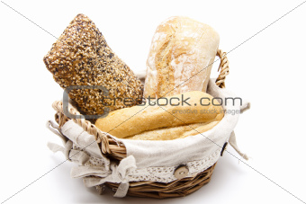 Bread rolls in the basket