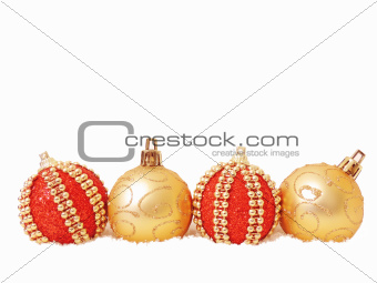 Christmas ball red and gold