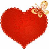 Red vintage heart