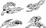 Dragon flame tattoos