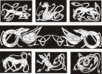 celtic knot patterns wuth animals
