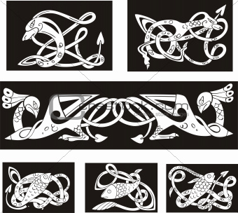 Animalistic celtic knot patterns