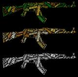 AK47 rifle graphics
