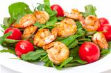 Salad with Grilled Shrimp and Tomatoes