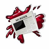 Newspaper murder icon