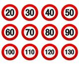 Speed Limit Sign Set