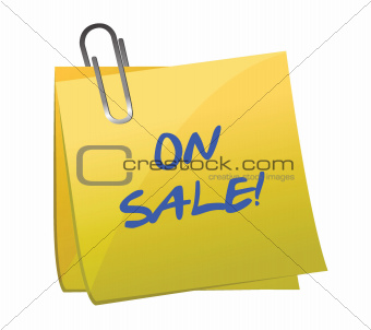 on sale post it