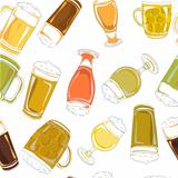 beer pints pattern