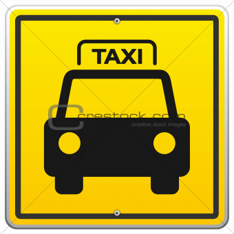Taxi Sign in New York