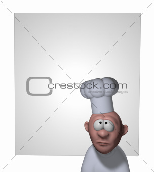 funny cook and blank board