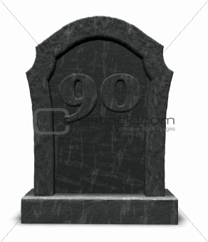 number ninety on gravestone