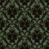seamless floral damask brocade pattern background