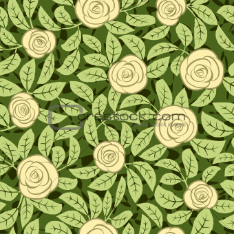 seamless abstract romantic yellow rose background design pattern