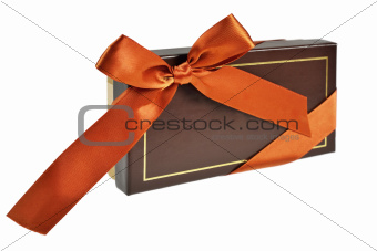 Gift box with ribbon and bow