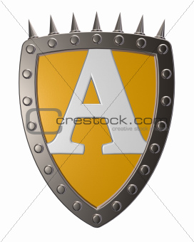 shield with letter A