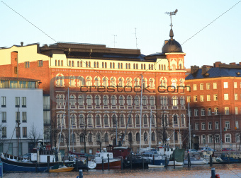 Embankment in Helsinki, Finland