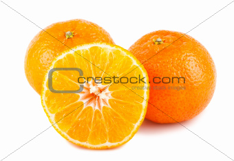Fresh tangerine fruits
