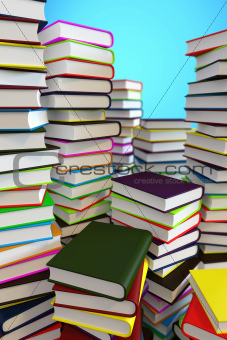 Big piles of books
